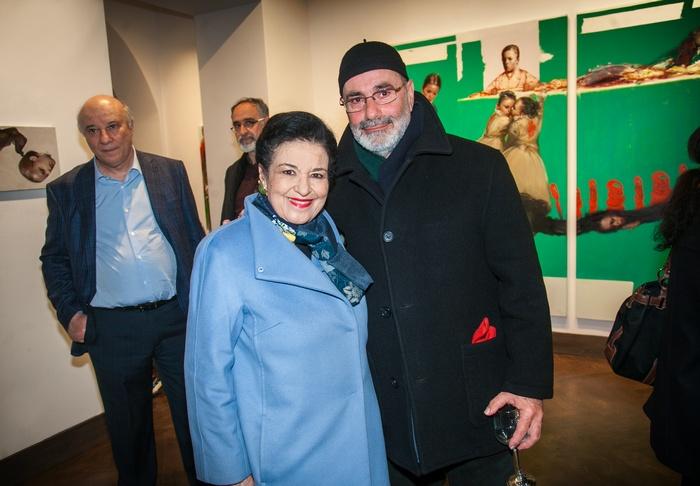 Η Διευθύντρια της Εθνικής Πινακοθήκης Μαρίνα Λαμπράκη Πλάκα και ο καθηγητής της ΑΣΚΤ Μιχάλης Μανουσάκης.