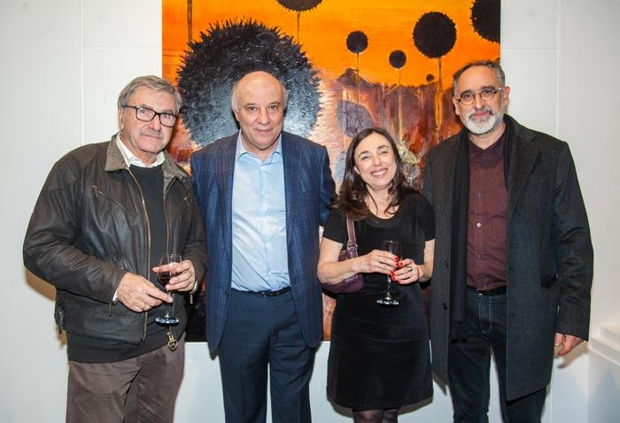 Ο ζωγράφος Γιάννης Αδαμάκος, με τον Κώστα Ευριπίδη, την Ειρήνη Μισούρα και τον Χρήστο Παλλαντζά.