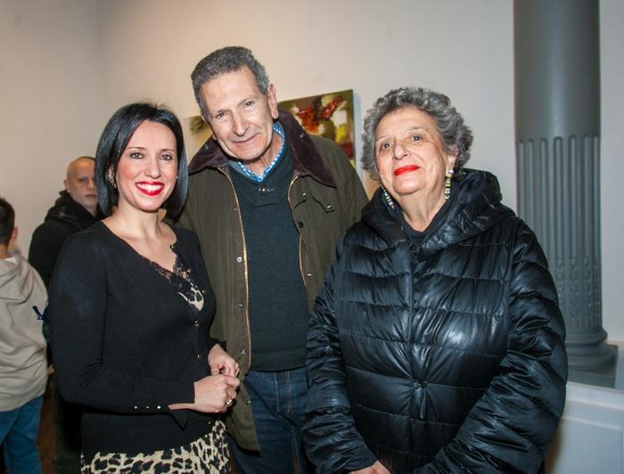 Η Δήμητρα Κατσιμεντέ, ο καθηγητής Κλήμης Ναυρίδης και η Ιστορικός Τέχνης Ντόρα Ρογκάν