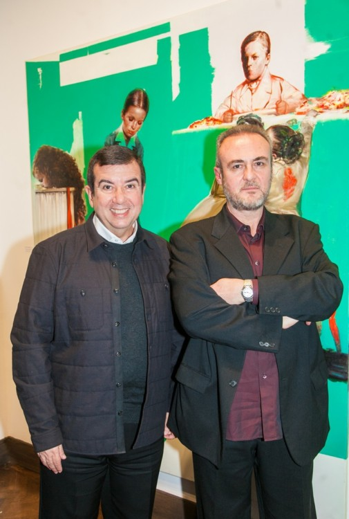 Ο Τάκης Μαυρωτάς με τον ζωγράφο Τάσο Μισούρα.