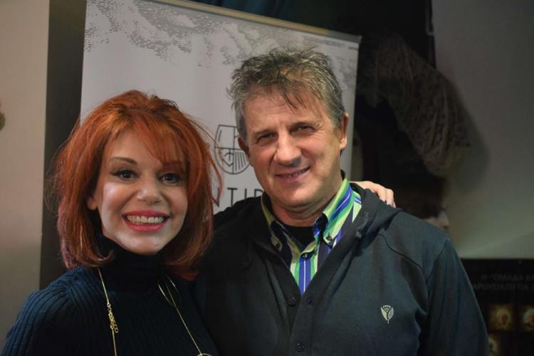 Η Πολύνα Γκιωνάκη με τον σκηνοθέτη Γιάννη Βαμβακά