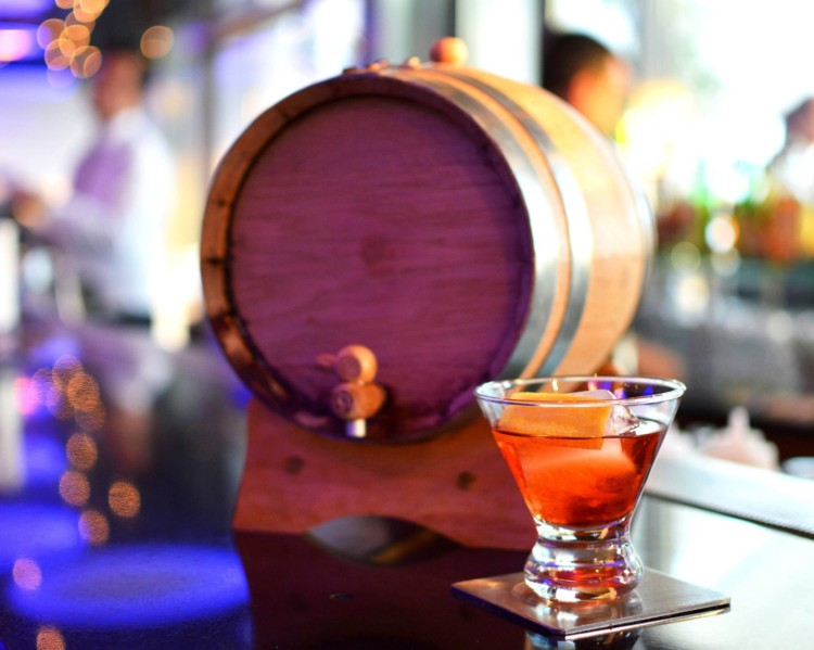 Barrel-aged cocktail