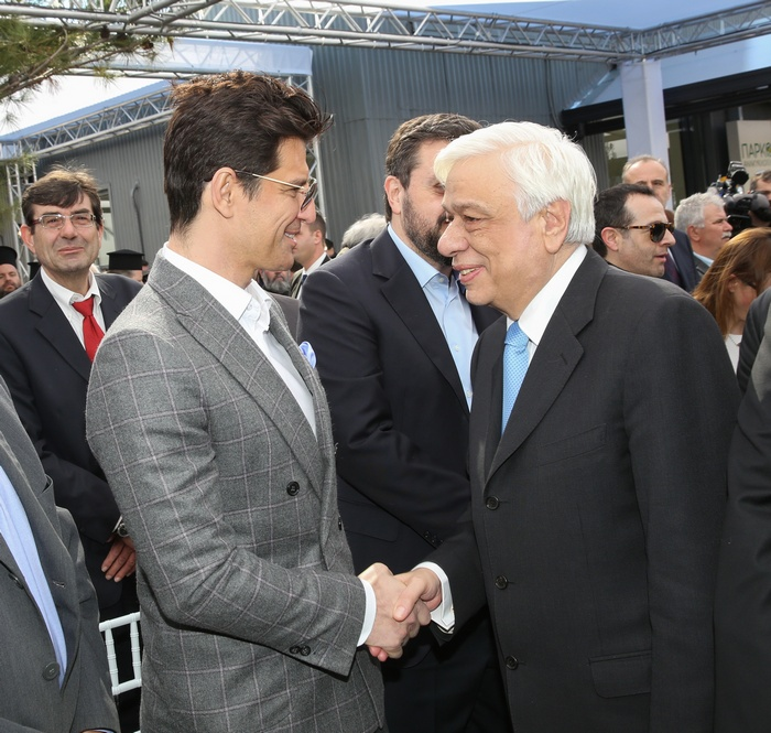 Ο Πρόεδρος της Δημοκρατίας κ. Προκόπιος Παυλόπουλος με τον Σάκη Ρουβά