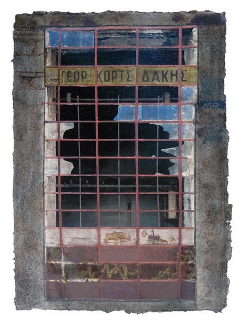 Windows Miserere 30, 2016. Digital pigment print on handmade indian paper, oil, graphite, balsa. 29x21 cm