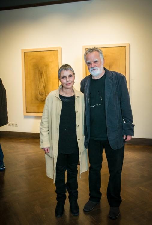 Ο ζωγράφος Μίλτος Παντελιάς και η σύζυγός του και γλύπτρια Ειρήνη Γκόνου