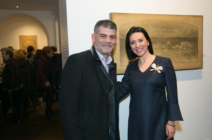 Ο ζωγράφος Σάββας Γεωργιάδης με την Δήμητρα Κατσιμεντέ