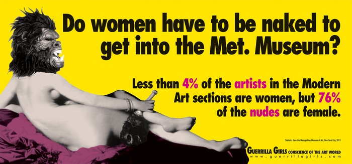 Guerrilla Girls, Do women have to be naked to get into the Met. Museum, 30,5x66cm, 2012, signed poster