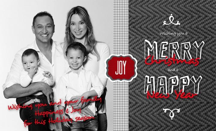 Η Χριστουγεννιάτικη κάρτα της οικογένειας Γιώργου Ντάβλα