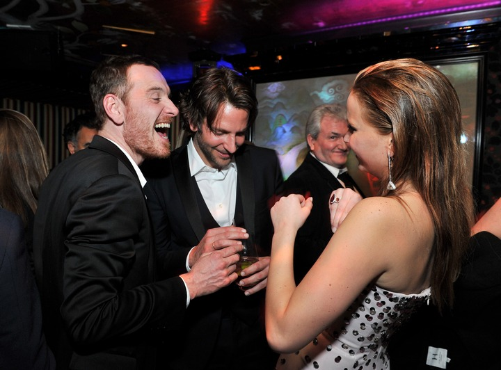 Michael Fassbender, Brandley Cooper, Jennifer Lawrence