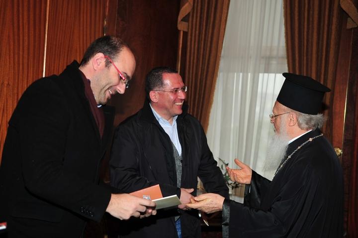 Ο Γιάννης Χορόζογλου με τον Οικουμενικό Πατριάρχη Βαρθολομαίο