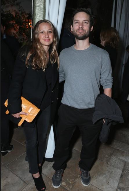 Ο Tobey Maguire με την σύζυγο του