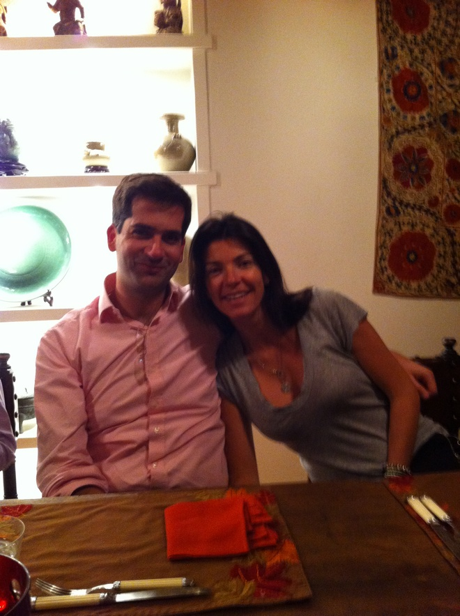 Κώστας Μπακογιάννης, Μαρίνα Βερνίκου, στο οικογενειακό σπίτι στο Καρπενήσι