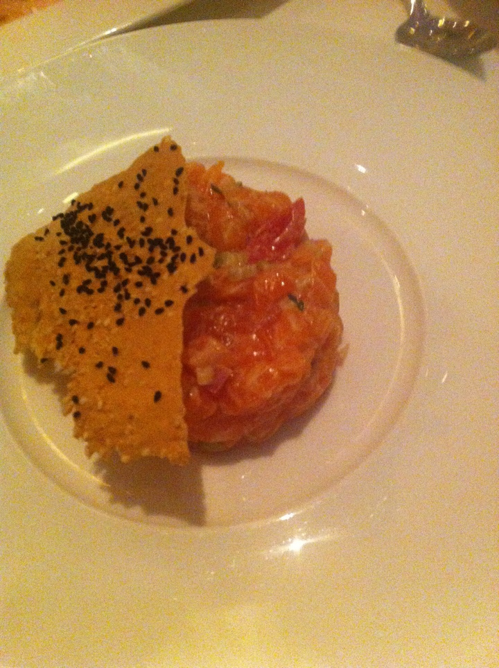 Salmon tartar...