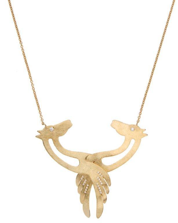 Mythical horses pendant
