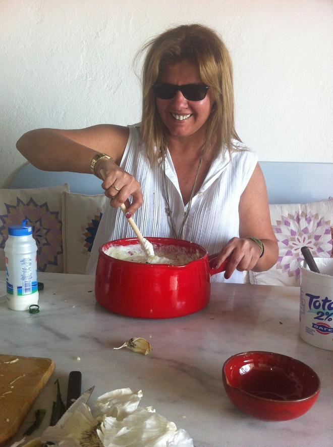 making tzatziki
