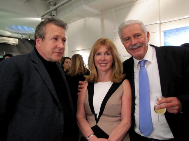 Ο γιος του διάσημου ζωγράφου, Paul Freud, η Anna Hunter και ο Γιώργος Σταθόπουλος
