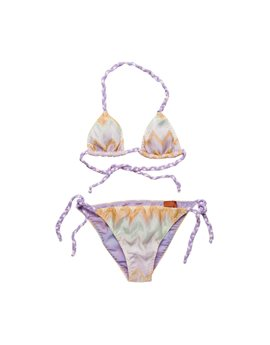 Lilac zig zag pattern cotton Triangle Bikini...Από 119 ευρώ, 47,60!