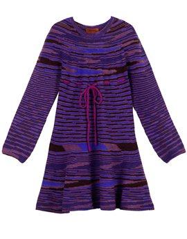 Girls purple striped fine wool knit dress, από 267 ευρώ, 106,80 ευρώ