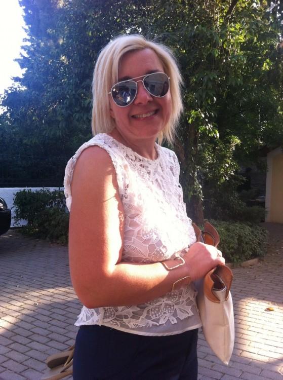 Η Μαρίνα Κουταρέλη, ιδιοκτήτρια του σπιτιού