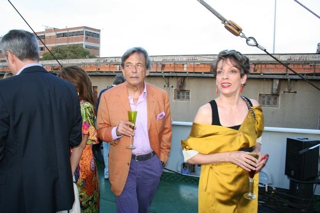 Ο Πρέσβης Τάσος Κριεκούκης και η Cecille Μαργέλου