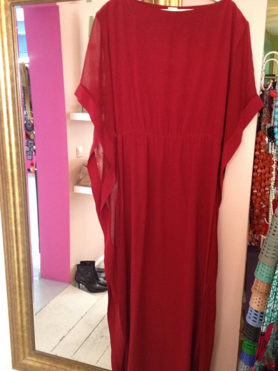 silk kaftan from hermes