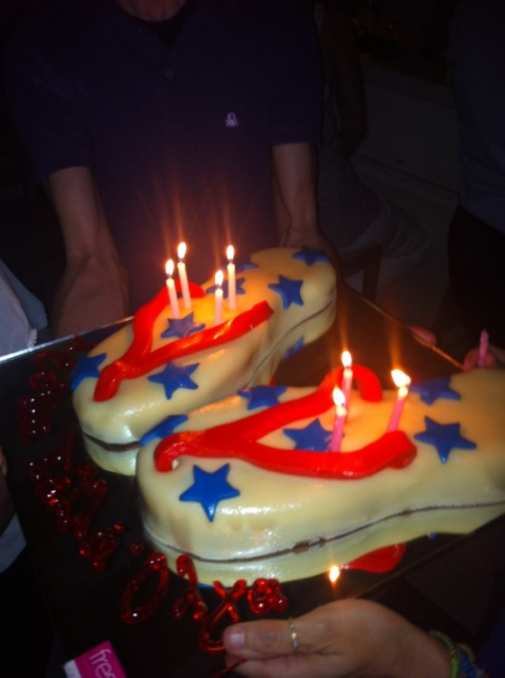 The cake!!! Life is better in Flip Flops...