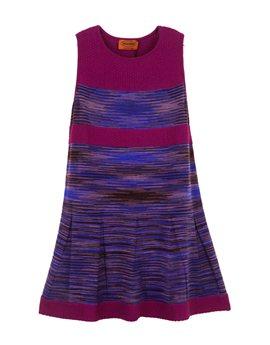 Girls purple Striped fine wool knit dress, από 375 ευρώ, 150 ευρώ