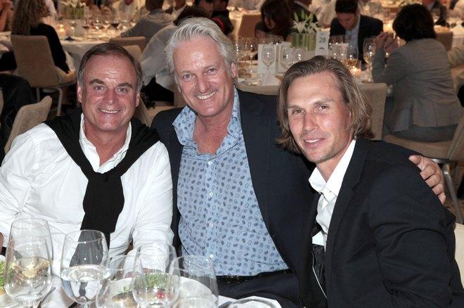 Ο διεθνής tour player Tino Schouster, με τα μέλη του Eagles Club Μονάχου, Georg Kofler και Stefan Schaffelhuber