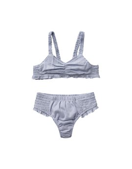 Stella McCartney blue & white fine striped cotton bikini, 22,50 euro