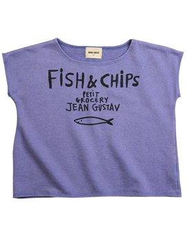 Bobo Choses fish & chips washed cotton swear top, 22,80 euro