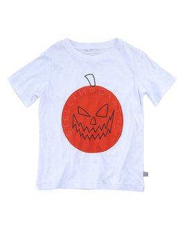 Boys White Halloween T-Shirt, Stella McCartney