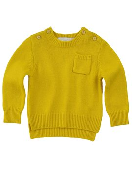 Girls Yellow Wool & Cashmere Sweater, Stella McCartney