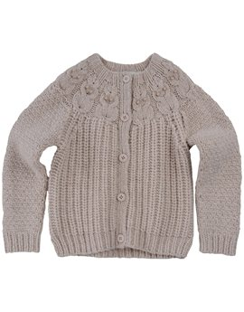 Girls Chunky Cardigan with Owl Patterns, Stella McCartney