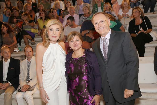 Η Μαριάννα Βαρδινογιάννη με τον πρέσβη του Καναδά Robert Peck, και την σύζυγο του, Maria Peck