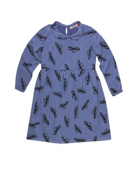 Bobo Choses, Girls 50's style Blue Dress with Hat Prints