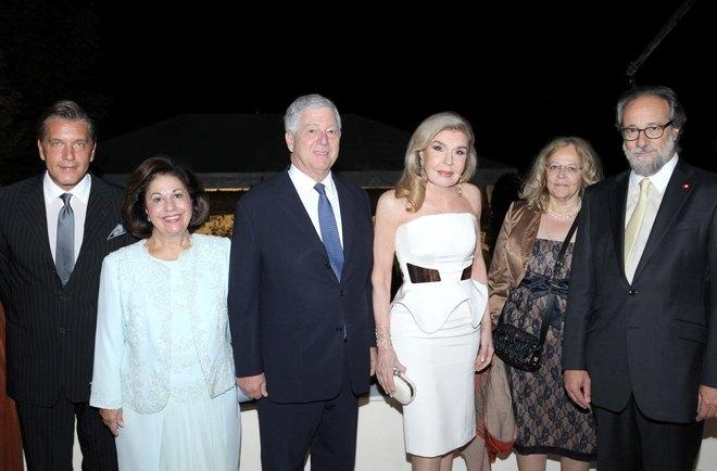 Δρ. Ζήσης Μπουκουβάλας, Πριγκίπισσα Αικατερίνη και Πρίγκιπας Αλέξανδρος της Σερβίας, Μαριάννα Βαρδινογιάννη, Χριστίνα και Λορέντζο Αμπεργκ