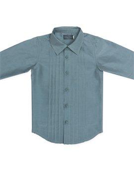 Tο αγαπημένο μου σετ: Baby boy blue cotton & silk shirt...