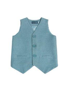 ...and Popecha, blue cotton & silk waistcoat!