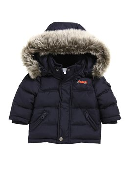 Tartine et Chocolat, baby boy padded coat with removable hood