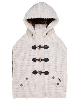 Το αγαπημένο μου!!!!!Bark Knitted Duffle Cape with Removable Hood
