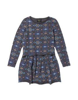 Girls Coal Ethnic Print Sweat Dress