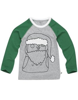 Grey and Green Santa T-Shirt