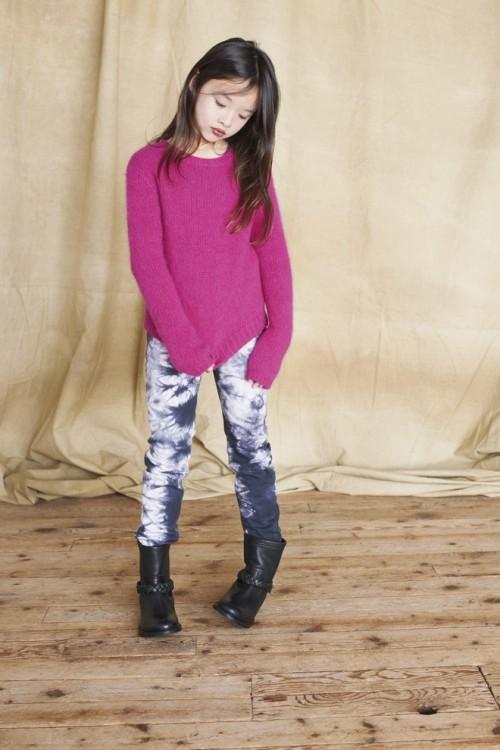 Girls Punk Pink Angora Sweater