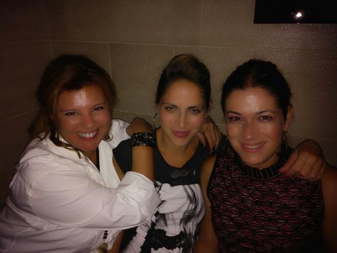 Με την Χρυσάνθη Κιτσινέλη και την Σαλώμη Φλουτάκου, χθες βράδυ...