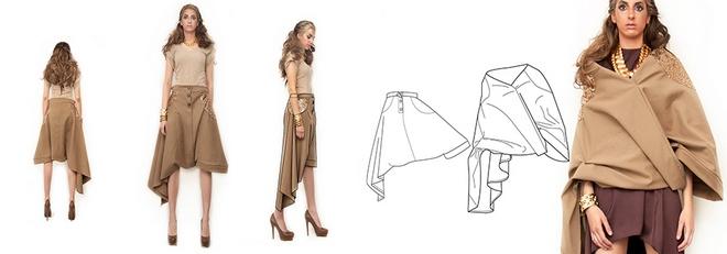 Η κάπα που μεταμοφώνεται σε φούστα φούστα, που μεταμορφώνεται στα πάντα!