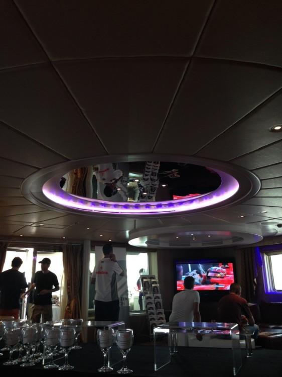 Ένα από τα σαλόνια του σκάφους...