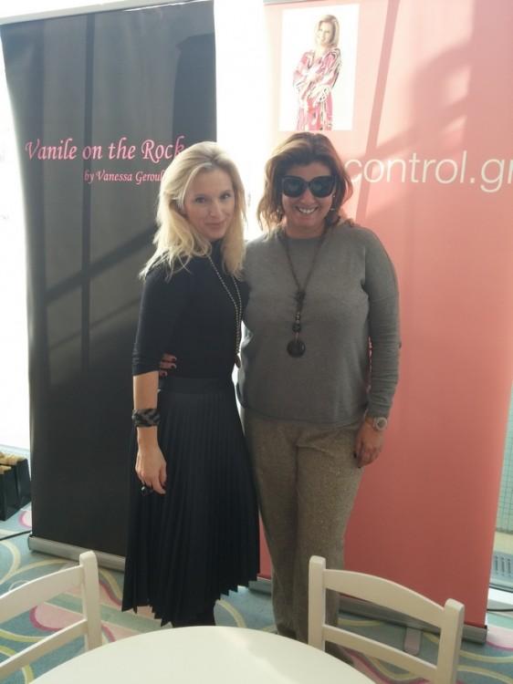 Με την Βανέσσα Γερουλάνου...Πόσα charity bazaar μαζί...