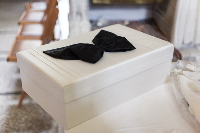 To κουτί της Βάφτισης: Εκεί που θα φυλαχτούν οι πολύτιμες αναμνήσεις...Ήθελα τα πάντα να είναι σε εκρού και μαύρο...Πήρα την έγκριση της οικογένειας-όχι, δεν είναι προληπτικοί- και έτσι, μαζί με την πολύτιμη βοήθεια της Βίκυς Τοσίδου της Bambineria