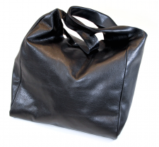 Black Leather Shopper
