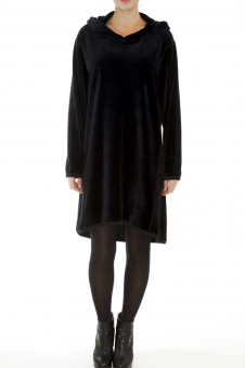 Velour Assymetrical Dress